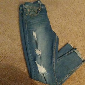 Seven 7 distressed hi rise jeans